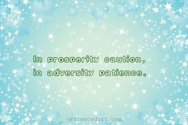 sentence of adversity