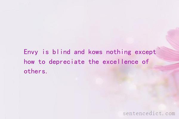 The Blind Sentence