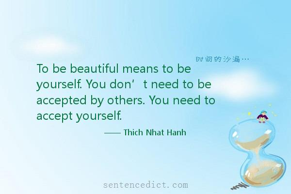 Good sentence's beautiful picture_To be beautiful means to be yourself. You don't need to be accepted by others. You need to accept yourself.
