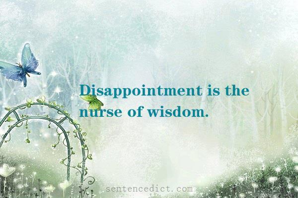 Good sentence's beautiful picture_Disappointment is the nurse of wisdom.