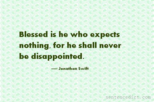 Good Sentence appreciation - Blessed is he who expects